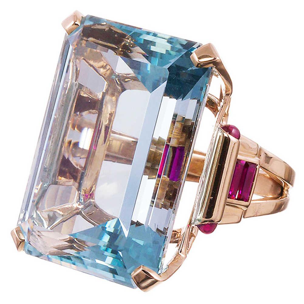 Океан Голубой фабала инкрустация топаз Обручальное кольцо из розового золота ювелирные изделия корунд покрытие