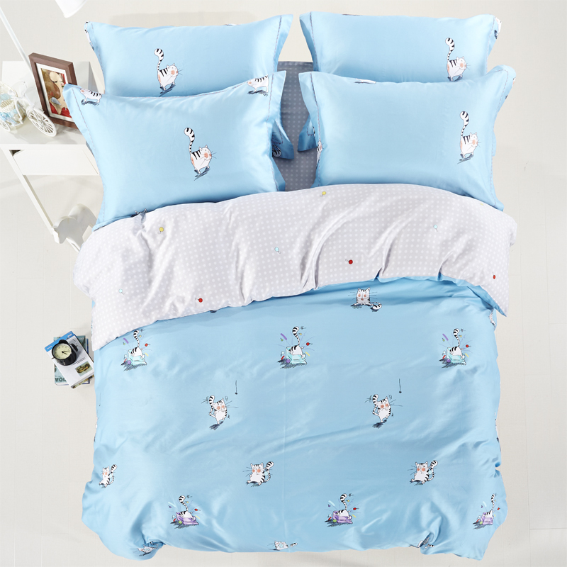 Buy 2016 new luxury cotton cat rabbit owl for Housse duvet