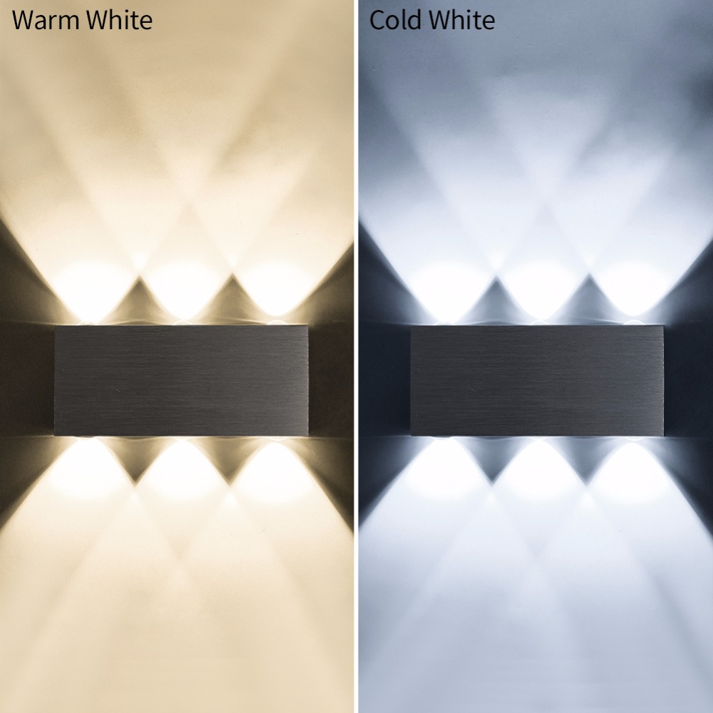 Led Indoor Wall Lamps The Best Modern Led Wall Lamp 6w Wall Sconces Indoor Stair Light Fixture Bedroom Bedside Living Room Home Hallway Loft Up Down Lampada