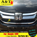 & T Для Honda CRV хромированная Решетка trim стайлинга автомобилей 2015 2016 Для CRV верхней Растровых наклейки решетка отделка полосы Автомобиль аксессуары