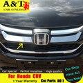 A & t para honda crv grade cromada guarnição carro styling 2015 2016 Para CRV adesivos grade guarnição tira Raster superior Do Carro acessórios