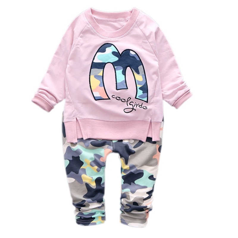 Kids Clothes Christmas Boys Girls Clothes Casual Toddler Fleece Sports Camouflage Tops+Pants clothing Sets baby clothing 9