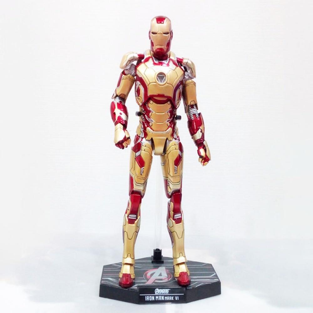 Tony Stark 3 Mark XLII MK42 1/6 Scale Action Figure MMS197-D02 Free Shipping mms277 1 6 scale iron man 3 mk 25 striker tony stark action figure limited stock