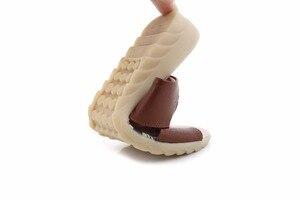 Image 5 - Летние удобные тапочки GKTINOO из коровьей кожи на платформе Низкие Шлёпанцы на танкетке пляжная повседневная женская обувь большого размера 35 42