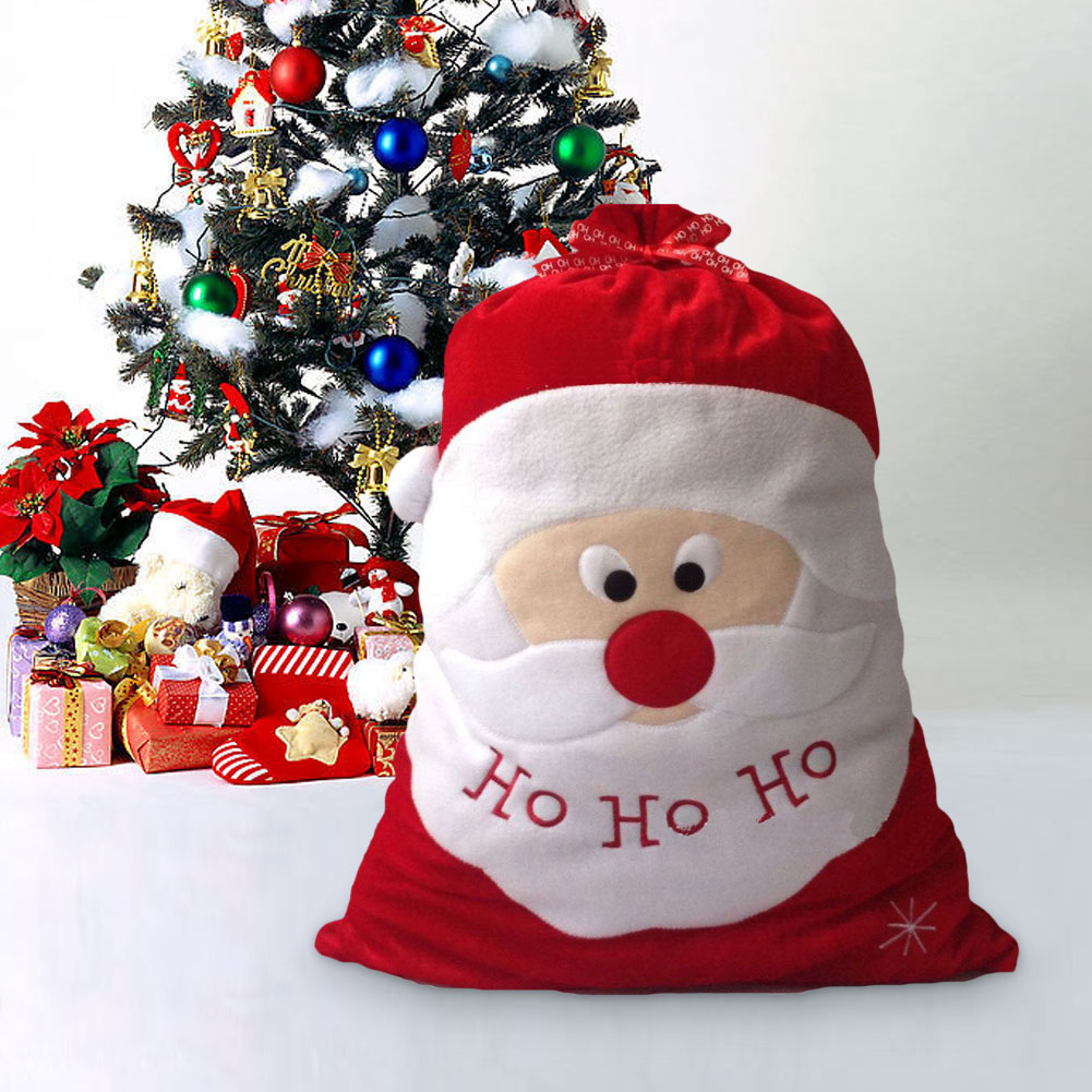 christmas gift bag christmas decorations for home santa. Black Bedroom Furniture Sets. Home Design Ideas