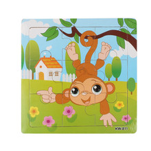 Fashion Wooden Monkey Jigsaw Toys For Kids Education And Learning Puzzles Toys Free Shipping