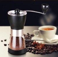 Cà phê Máy Mài Tay Máy Cà Phê Maker Có Thể Điều Chỉnh Gốm Sứ Core + Chai Thủy Tinh Mil Máy Xay Cà Phê Hạt Máy Phay
