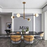 Nordic минималистский Led молекулы люстра Лофт дизайнер Стекло мяч Кухня Кофе магазин светодиодный висячие светильники Бесплатная доставка