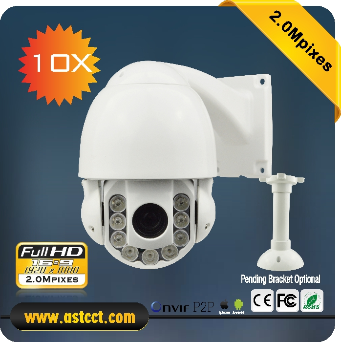 Sony 322 Sensor 2 0MP Full HD Mini IP PTZ Camera 4inch Ourdoor Indoor 10x Zoom