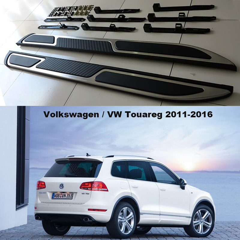 For Volkswagen VW Touareg 2011-2016 Car Running Boards Auto Side Step Bar Pedals High Quality Brand New European Style Nerf Bars