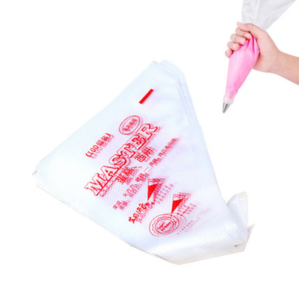 G&T 100pc/set Disposable Piping Bag Plastic Pastry Bags ...
