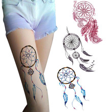 Temporary Tattoos Body Art Fake Dreamcatcher Tattoo Stickers Waterproof men and women Henna tattoo body art design   4