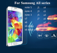 9H hardness 2.5D arc protective glass film on for samsung 2015 2016 A3 A5 A7 J1 J2 J3 J5 J7 real premium tempered