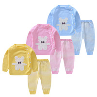 Toddler Spring Autumn Knitting Clothing Set Sweater Cardigan Outfits Clothing Set Top+Pants Sport Cotton Clothing Set AA12191