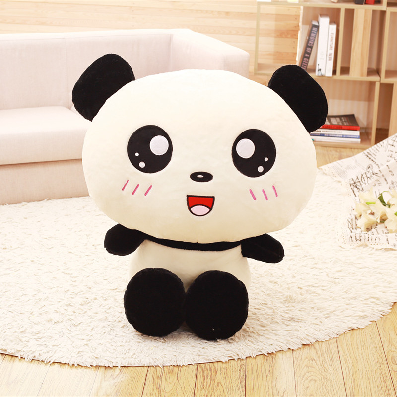 40cm Lovely Big Head Panda Plush Toys Stuffed Soft Animal Doll Cute Cartoon Bear Gift for Children Kids Baby Sofa Cushion Pillow ty collection beanie boos kids plush toys big eyes slick brown fox lovely children gifts kawaii stuffed animals dolls cute toys
