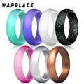 Новое пищевое Силиконовое кольцо FDA 5,7 мм Гипоаллергенное крестообразное гибкое Золотое резиновое кольцо для мужчин и женщин Свадебные укр...