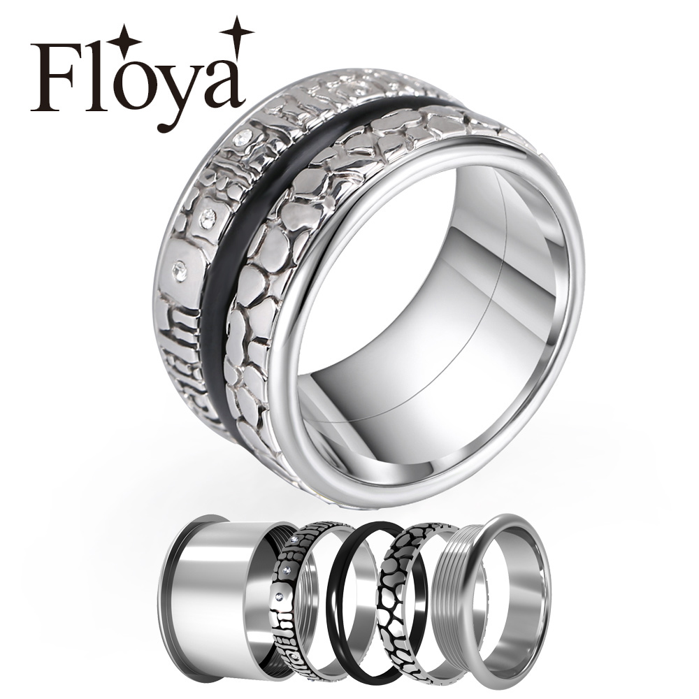 Cremo Arctic Symphony Rings Collection Women Sealing Bijoux Band Stainless Steel Interchangeable Accessories Layers Ring