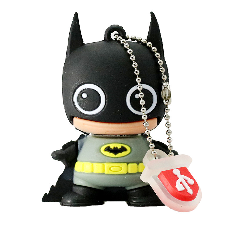 New Mini Cartoon Super Heros USB Flash Drive 128GB 64GB 32GB PenDrive 16GB 8GB 4GB Batman Superman Pen Drive flash memory stick (8)