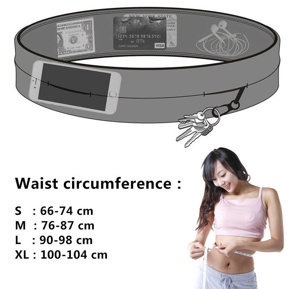 REXCHI Ultraleve Esteira de Corrida para Mulheres Dos Homens Sports Saco Da Cintura Elástica Pacote Escondido Anti-roubo Suporte Do Telefone Acessórios Esportivos