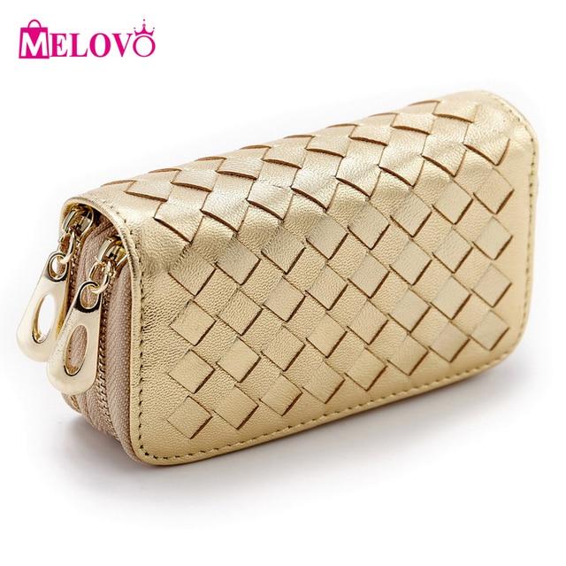 MELOVO Double Zipper Fashion Women\'s Sheepskin Knitting Pattern Card ...