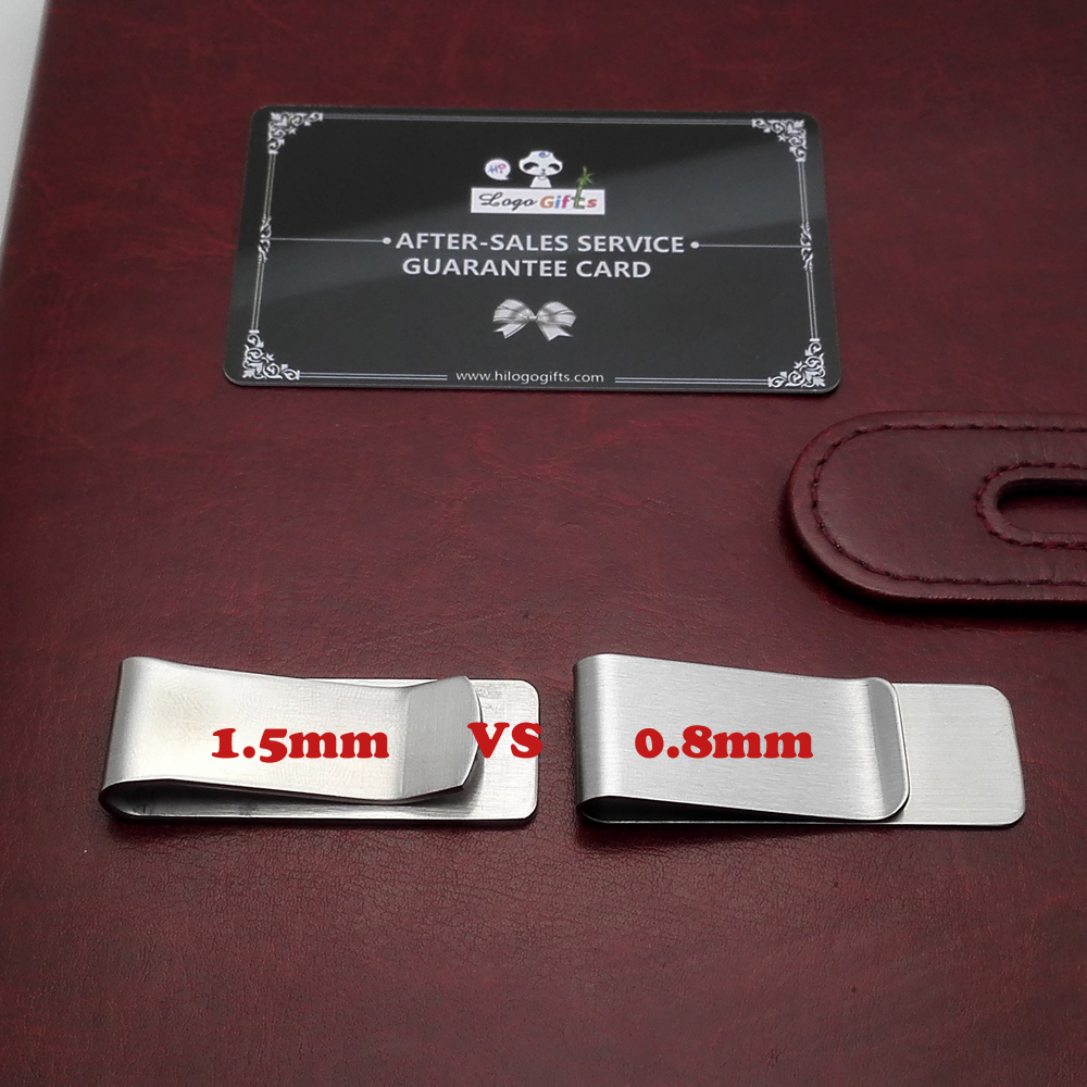 0 8mm 1 5mm High quality stainless steel dollars clip can be customized with your private logo personalized 10pcs a lot in Clips from Office School Supplies