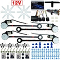 DC12V Universal Car/Auto 4 Doors Electronice Power Window kits With 8pcs/Set Swithces and Harness #FD-907