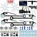 Dc12v Universal Car / Auto 4 portas Electronice kits de janela de poder com 8 pçs/set Swithces e Harness # FD-907