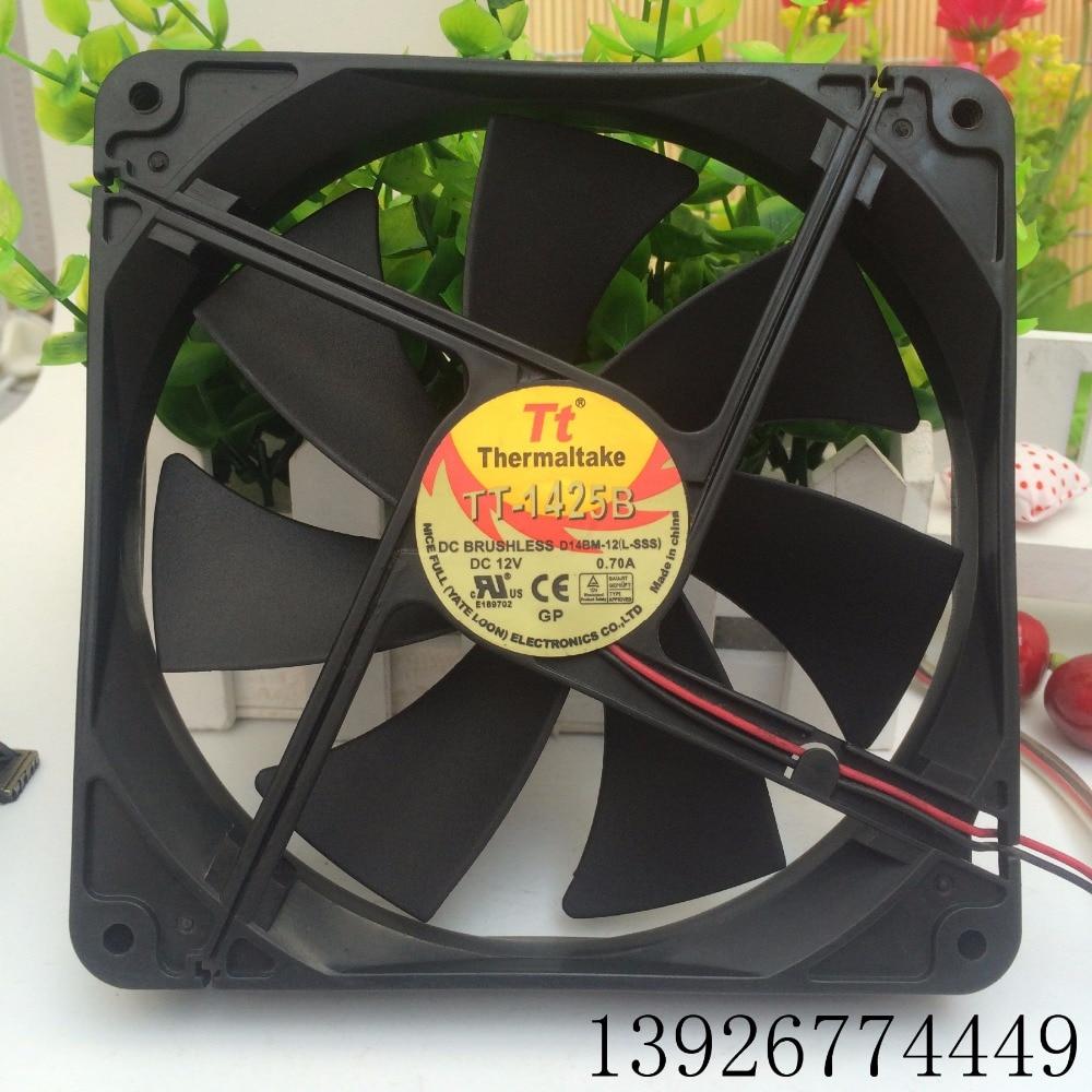 FAN FOR EVERFLOW Thermaltake TT TT-1425B 14cm TT-1425 14025 Silence Cooling Fan A1425L12S 12V 0.3A