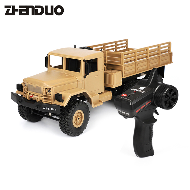 ZhenDuo Toys B-16 1:16 RC Crawler Remote Control Military Truck 6 Wheels Drive Off-Road RC Car 4WD2.4G Climbing Toy For Child