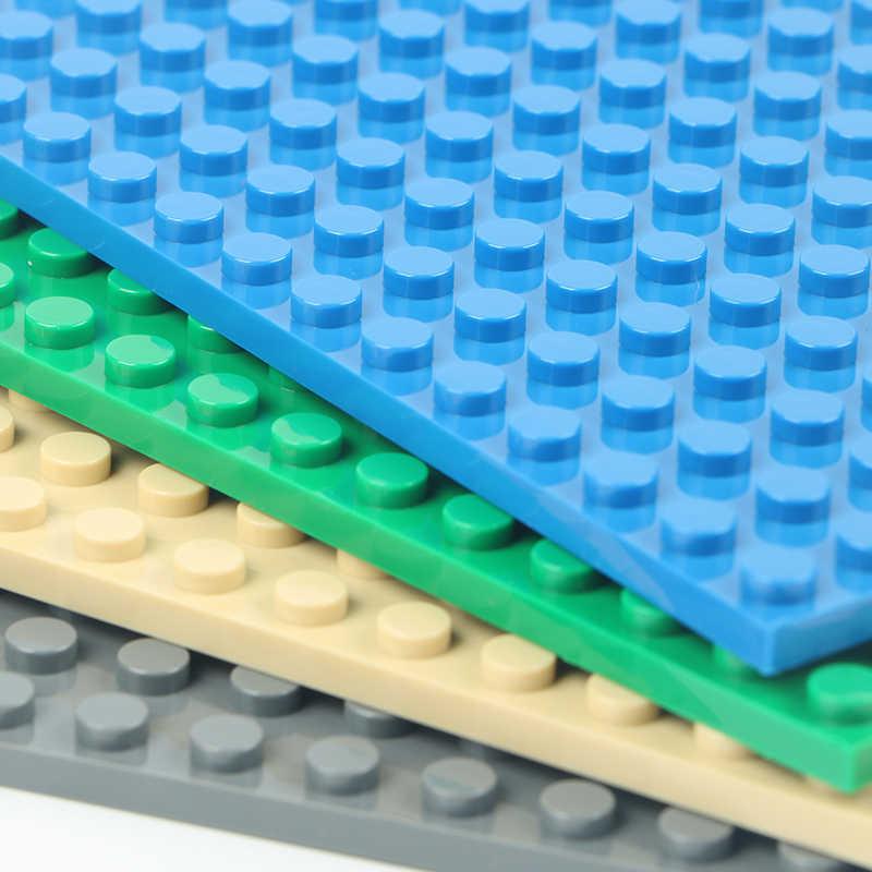 16*16 สองด้านจุด City ฐานแผ่นสำหรับอิฐ Baseplate DIY บล็อกอาคารชุดของเล่นชิ้นส่วนใช้งานร่วมกับ