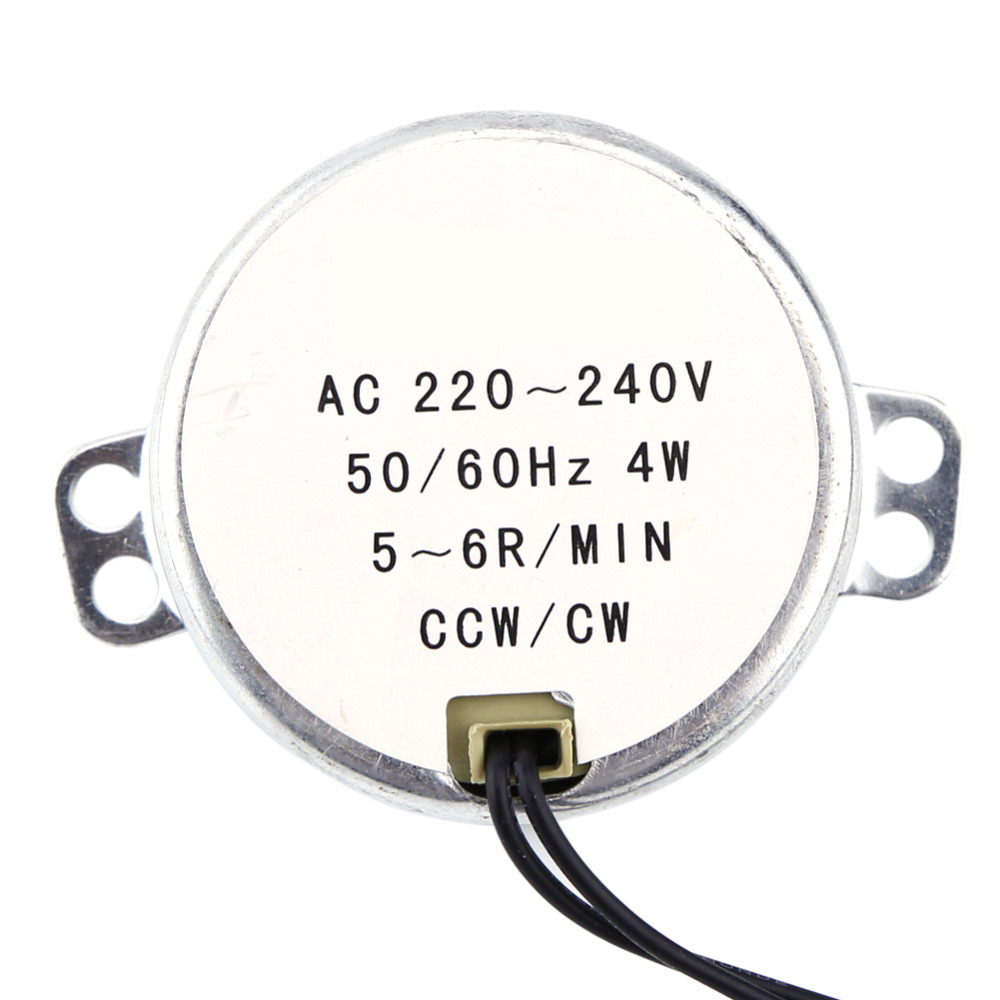 5-6RPM 1pc 220-240V AC Synchronous Motor Geared Motor 4W CW//CCW Motor Parts AC Motor Synchronous Motor