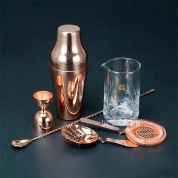 Hot Selling French bartender set Golden 304 Stainless Steel Cocktail Shaker Mixer Drink Bartender Browser Kit Bars Set Tools фото