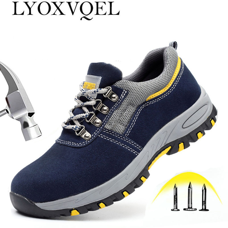 e6e43591655cf Safety Steel Toe Shoes Men Waterproof Work Shoe Labor Insurance Puncture  Proof Sneakers Mens Military Army Camo Boots M519