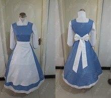 Nueva llegada de mucama cosplay larga campana casa siervo lolita dress disfraces de halloween