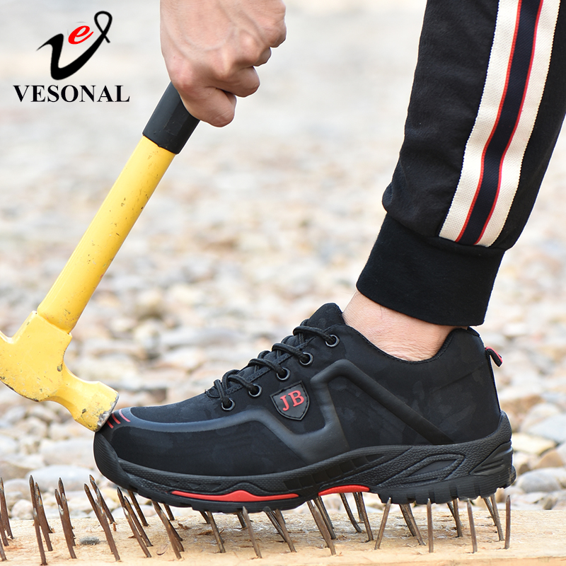 VESONAL 2019 New Work Safety Boot Shoes Men Boos Construction Steel Toe Cap Anti-smashing Outdoor Mesh Sneakers Casual walking(China)