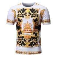 Été nouvelle mode Europe Court 3D imprimé hommes à manches courtes T-Shirt décontracté col rond t-shirts floraux de différentes couleurs et Styles