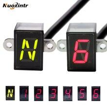 Nuoxintr, 6 скоростей, черный, универсальный, для мотоцикла, цифровой дисплей, светодиодный, для внедорожного мотоцикла, мото светильник, нейтральный, с индикатором передач, дисплей