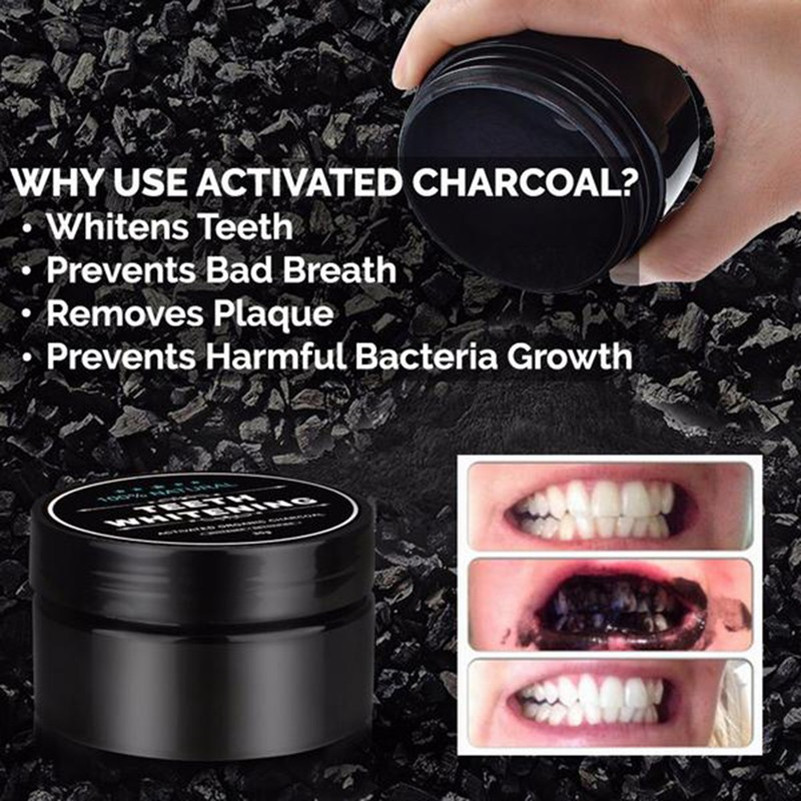 Teeth Whitening Powder Activated Charcoal Toothpaste Whitening Tooth Powder Coconut Shell Oral Hygiene Gum Health Care