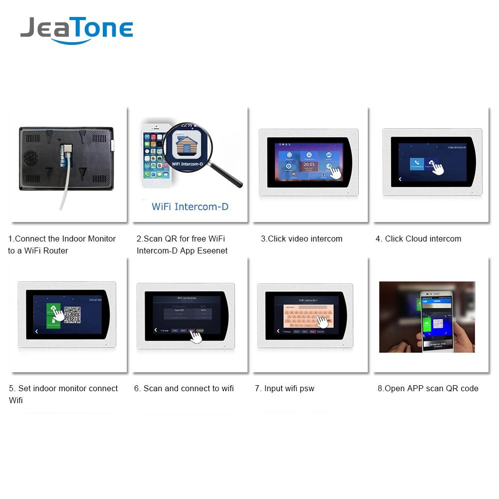 Купить с кэшбэком IP Door Phone WIFI Video Intercom System Video Doorbell 7'' Touch Screen for 4 Floors Apartment/8 Zone Alarm Support Smart Phone