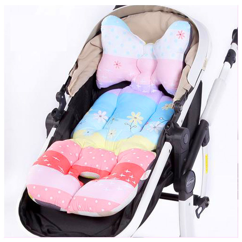Baby Stroller Cotton Cushion Seat Pad Baby Umbrella Cart Accessory Dining Chair Trolley Stroller Liner Seat Cushion Mattress