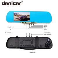 Denicer Dash Camera 5.0'' Car Cvr Mirror Dual Lens Rear View Camera Rearview Dvr Auto Recorder Video Full HD 1080P Front Rear