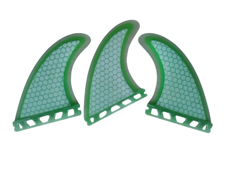 Prancha quilhas de стекловолокно доски для серфинга плавники G5 светло-красный/зеленый сота Fin M Размеры Будущем Плавники в серфинге