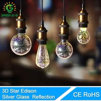 Ampoule 3D GreenEye led ampoule 3D Étoiles LED Edison Ampoule E27 Coloré