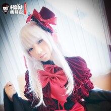 HSIU Peluca de Cosplay de Anna Kushina, cabello de Cosplay de anime k project, pelucas de juego, disfraces de Halloween