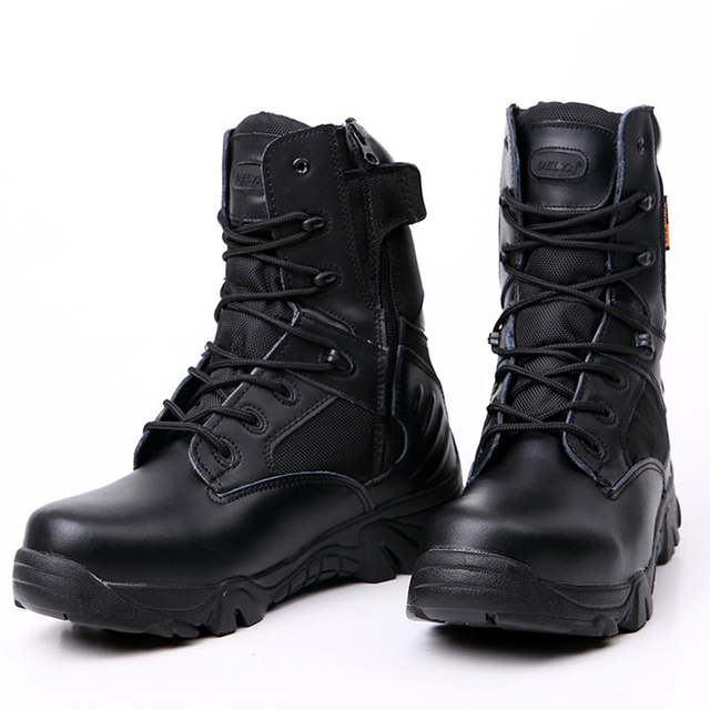 3ae3acbfdc1 US $29.92 25% OFF|Men Tactical Boots For Outdoor Mountain Hiking Shoes Anti  skid Wear Resistant Water Resistant Multi terrain Sport Shoes Sneakers-in  ...