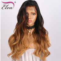 150% Density 13x6 Lace Front Human Hair Wigs With Baby Hair Brazilian Virgin Hair Glueless Lace Wigs Pre Plucked Elva Hair
