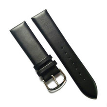 22mm HQ men's watch genuine Leather Watchband Black waterproof watch strap for quartz watches mechanical watches все цены