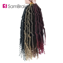 SAMBRAID Spring Twist Hair 12 Inch Faux Locs Crochet Synthetic Braiding Extensions Passion