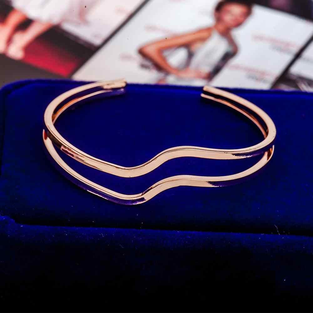 Punk Multi capa pulseras de mujer Cadena de serpiente de oro de moda/Chapado en plata Charm Pulseira femenina joyería de las mujeres