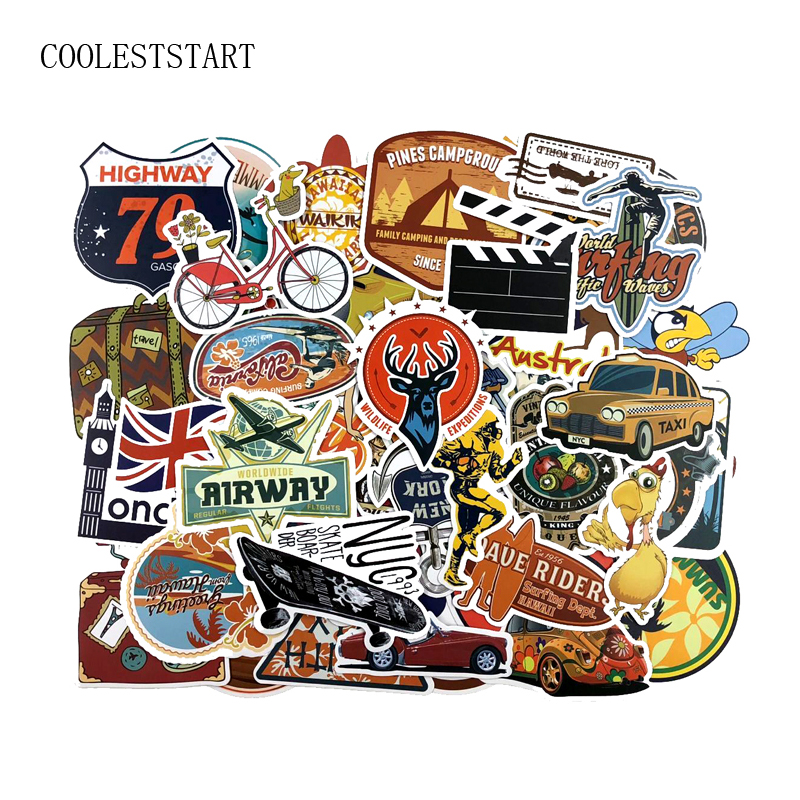 46 pcs set outdoors surge stickers car styling funny cool. Black Bedroom Furniture Sets. Home Design Ideas